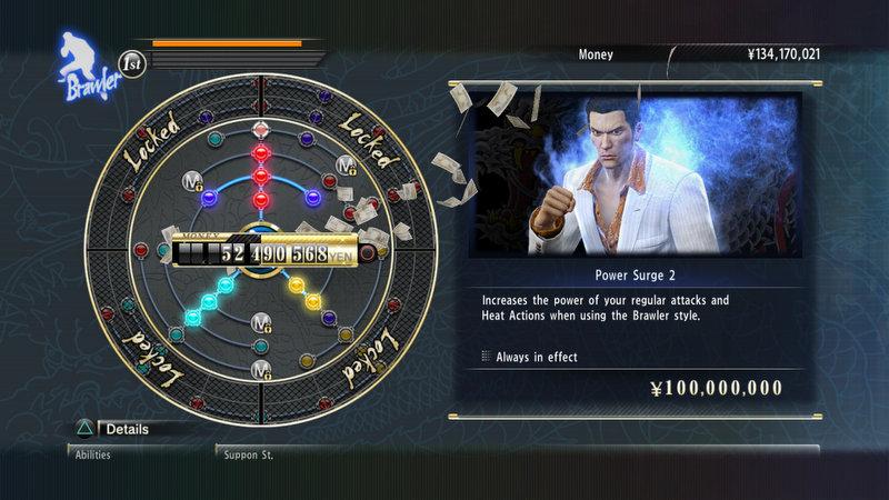 Yakuza 0 - Levelling System
